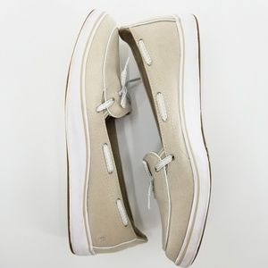 Grasshoppers Ortholite beige canvas boat shoes